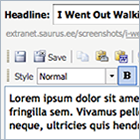 Text editor in Saurus CMS content management system